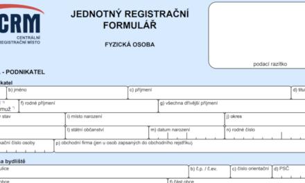 Jak funguje jednotný registrační formulář (JRF)